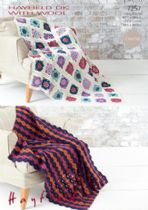 Hayfield DK with Wool - 7257 Crochet Blankets/Throws Pattern